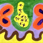 Automatická kresba - léčivý obrázek - pro dobrou náladu,dostatek lásky a energie